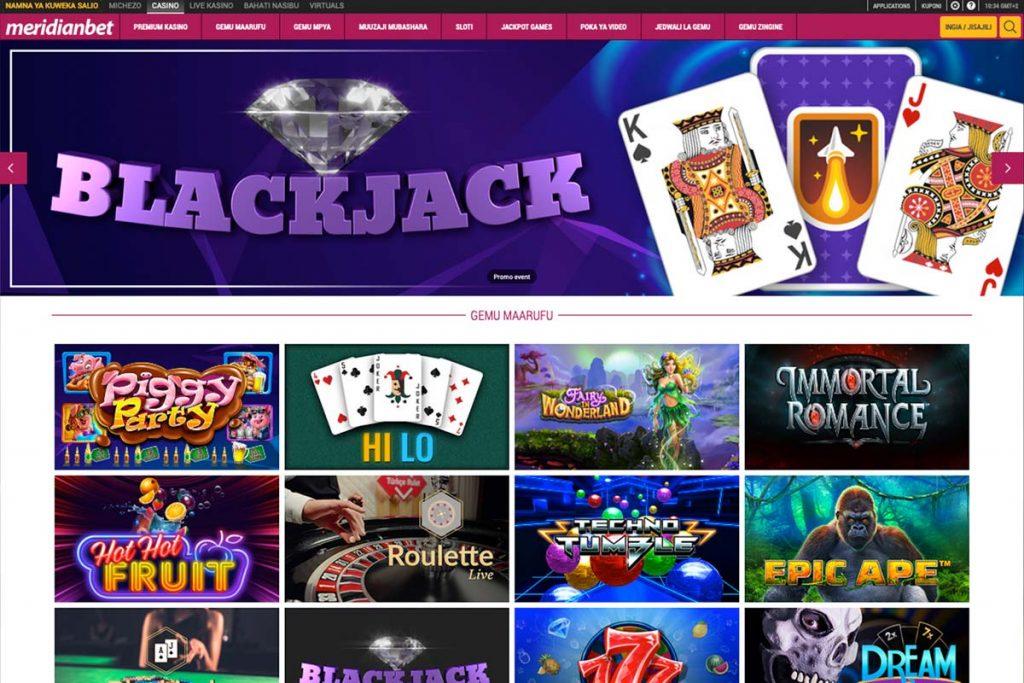 blackjack and slots online casino tanzania