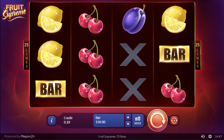 fruit slot machine online at Meridianbet Tanzania