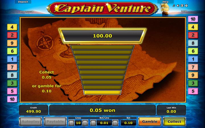 Alama ya sloti ya Captain Venture