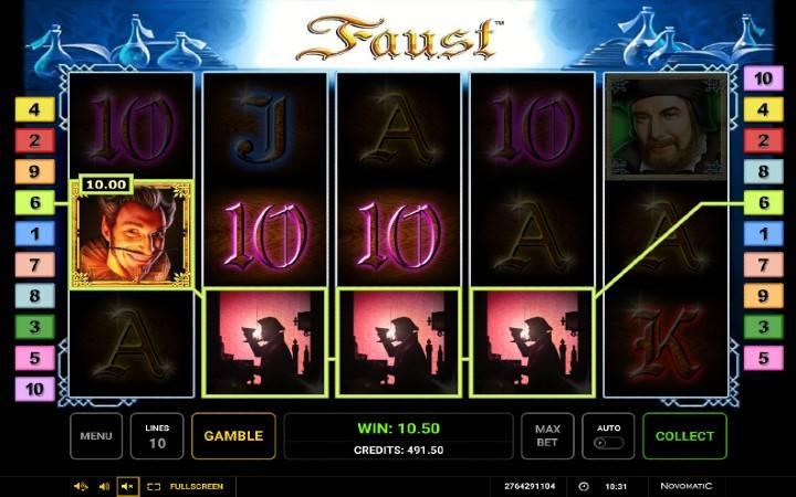 Alama za sloti za Faust