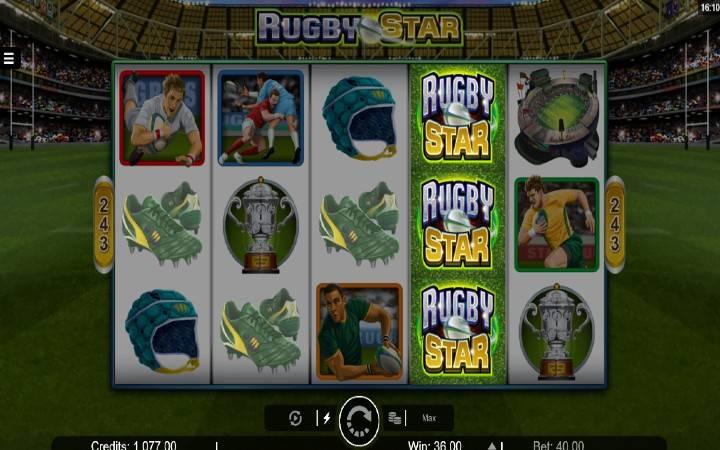 Alama za sloti ya Rugby Star