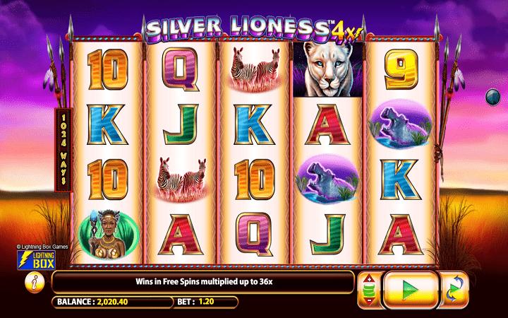 Alama ya sloti ya Silver Lioness