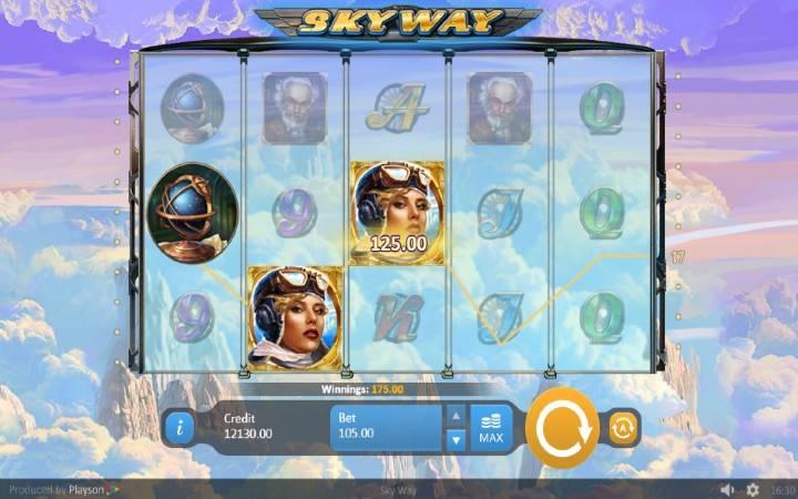 Alama za sloti ya Sky Way