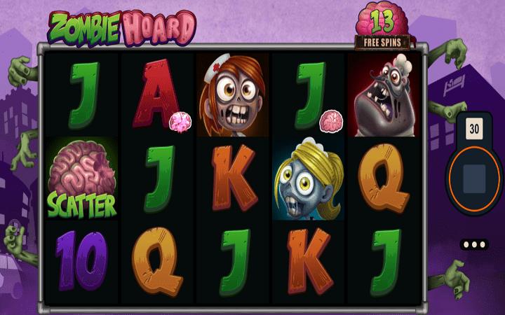 Alama za sloti ya Zombie Hoard