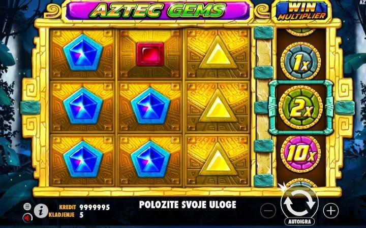 Aztec Gems, Bonasi ya kasino mtandaoni