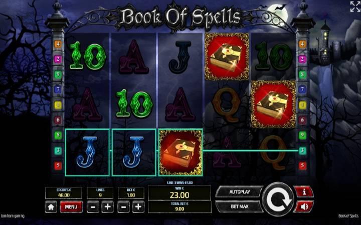 Alama za sloti ya Book of Spells