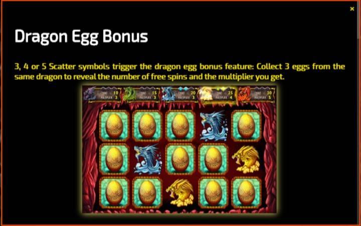Dragon Egg, Bonasi ya Kasino Mtandaoni