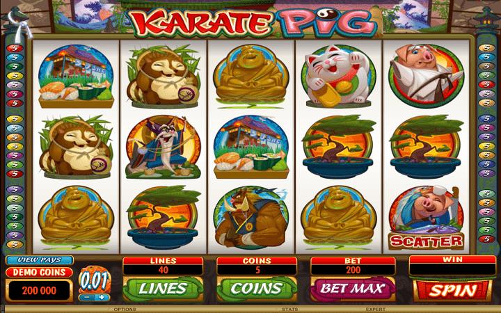 Karate Pig - hesabu ya nguruwe!