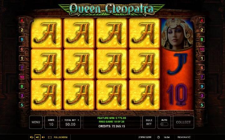 Alama za msingi za sloti ya Queen Cleopatra