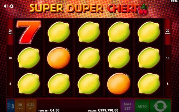 Alama za sloti ya Super Duper Cherry