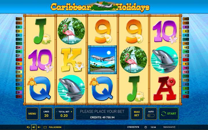 Alama za sloti ya Caribbean Holidays