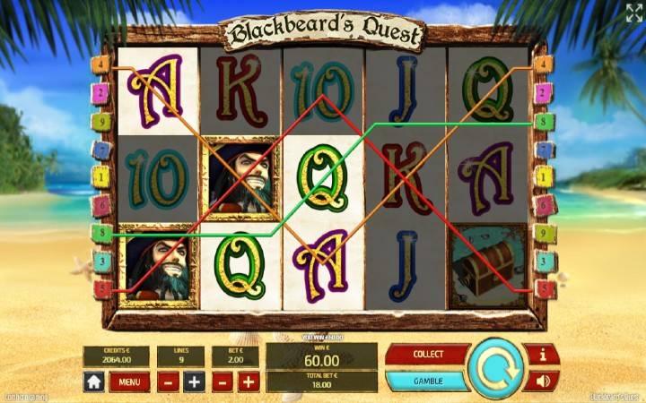 Kuhusu alama za sloti ya Blackbeard's Quest