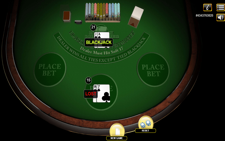 Croupier alipata blackjack katika raundi ya kwanza