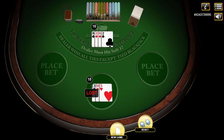 Kutana na Blackjack Double Exposure 3 Hand