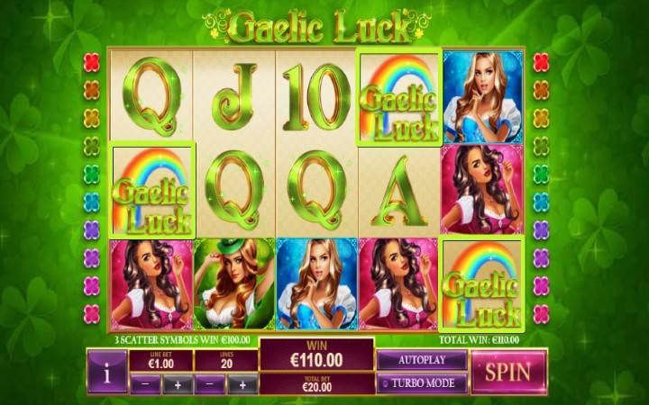 Gaelic Luck, alama za kutawanya