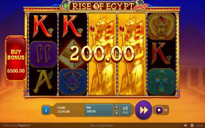 Alama za sloti ya Rise of Egypt Deluxe