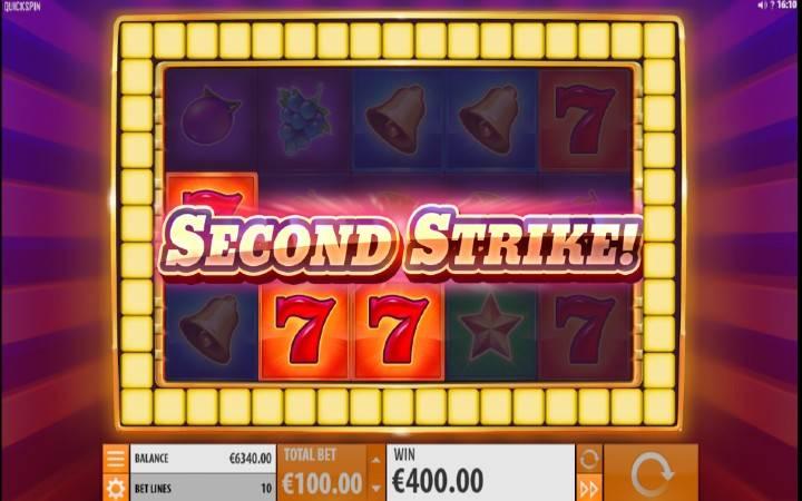 Second Strike, Bonasi ya Kasino Mtandaoni
