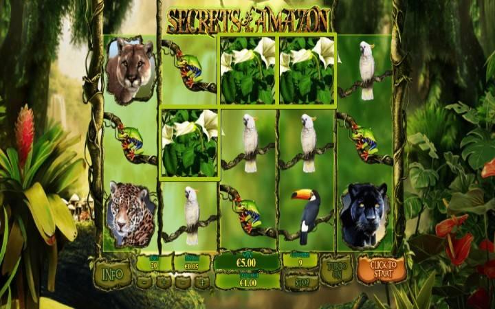 Kuhusu alama za sloti ya Secrets of the Amazon
