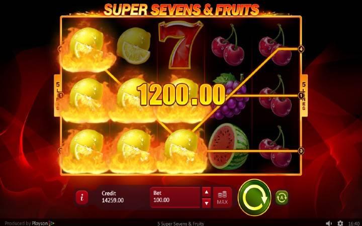 5 Super Sevens and Fruits