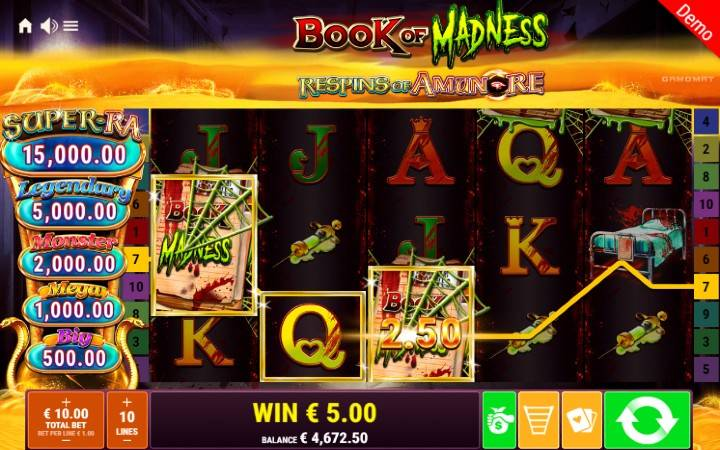 Book of Madness Respins of Amun Re - jokeri