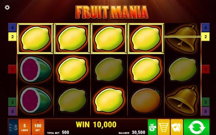Fruit Mania - kushinda safu