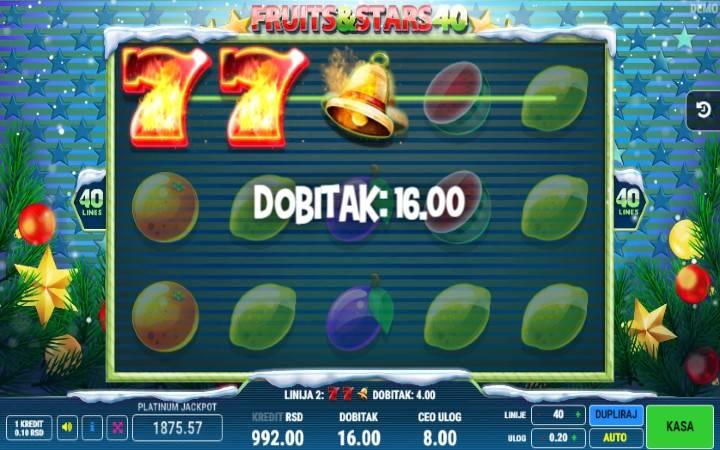 Fruits and Stars 40 - jokeri