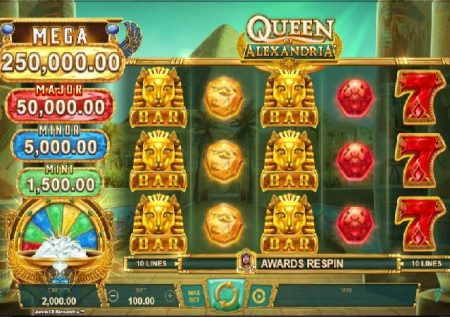 Queen of Alexandria – sloti ya jakpoti kwenye kasino!