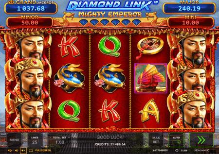 Diamond Link Mighty Emperor – kampeni ya bonasi!