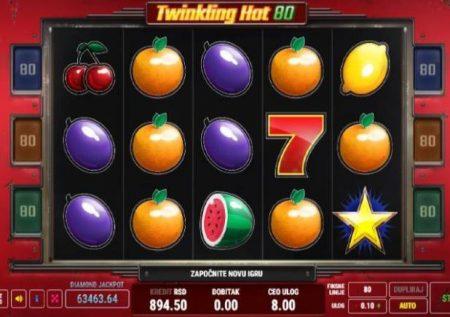 Twinkling Hot 80 – sherehe ya matunda ikiwa na jakpoti kubwa sana