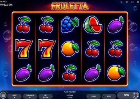 Fruletta – sherehe ya kipekee sana ya kasino ya matunda mtandaoni