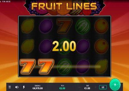 Fruit Lines – miti ya matunda isiyozuilika kwenye sloti mpya