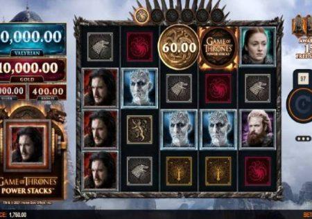 Game of Thrones Power Stacks – jakpoti zenye nguvu sana