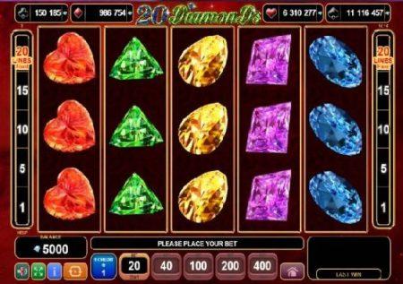 20 Diamonds – sloti ya kasino ya vito vyenye nguvu